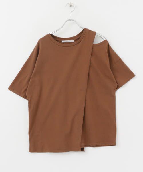 KBF / ケービーエフ Tシャツ | オープンショルダーアシンメトリーTシャツ | 詳細18