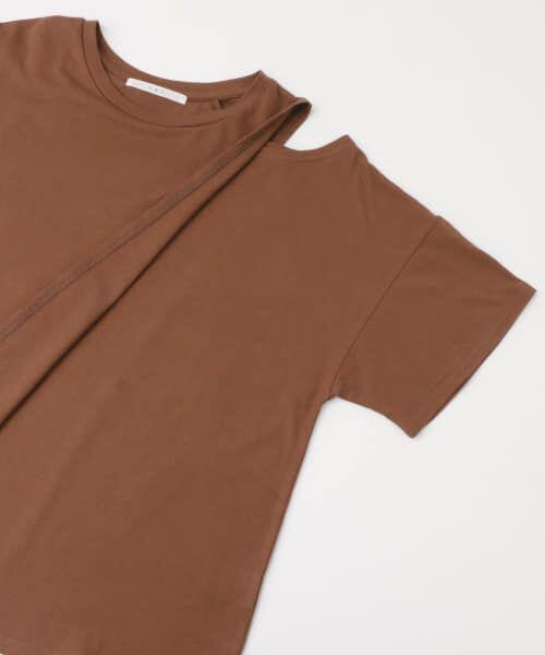 KBF / ケービーエフ Tシャツ | オープンショルダーアシンメトリーTシャツ | 詳細19