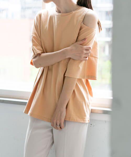 KBF / ケービーエフ Tシャツ | オープンショルダーアシンメトリーTシャツ | 詳細3