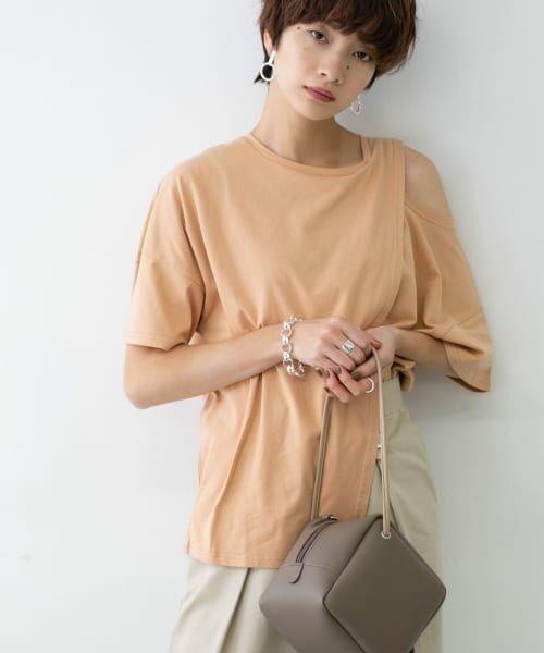 KBF / ケービーエフ Tシャツ | オープンショルダーアシンメトリーTシャツ | 詳細4