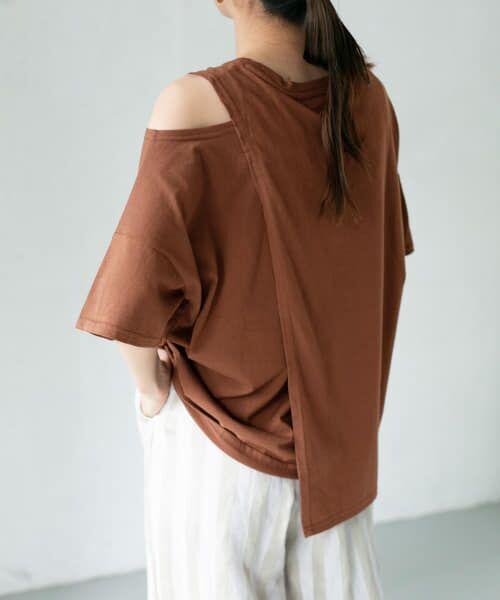 KBF / ケービーエフ Tシャツ | オープンショルダーアシンメトリーTシャツ | 詳細8
