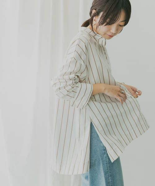 KBF / ケービーエフ シャツ・ブラウス   KBF+ マルチストライプシャツ   詳細11