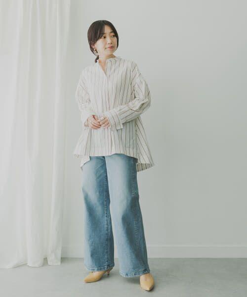 KBF / ケービーエフ シャツ・ブラウス   KBF+ マルチストライプシャツ   詳細14