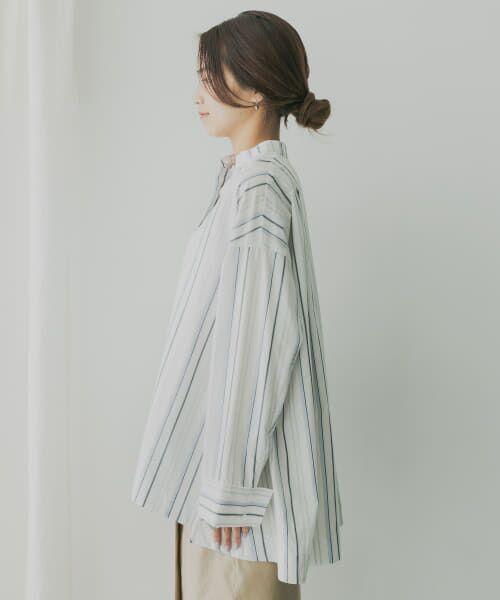KBF / ケービーエフ シャツ・ブラウス   KBF+ マルチストライプシャツ   詳細17