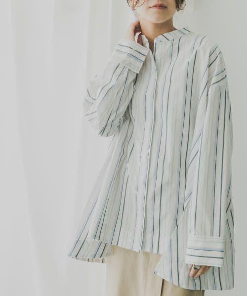 KBF / ケービーエフ シャツ・ブラウス   KBF+ マルチストライプシャツ   詳細3