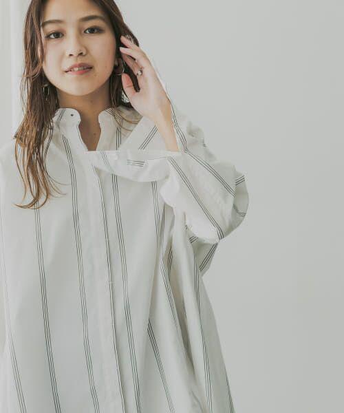 KBF / ケービーエフ シャツ・ブラウス   KBF+ マルチストライプシャツ   詳細6