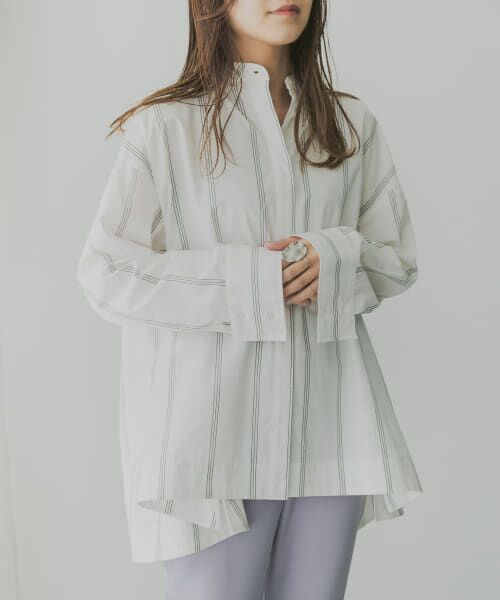 KBF / ケービーエフ シャツ・ブラウス   KBF+ マルチストライプシャツ   詳細8