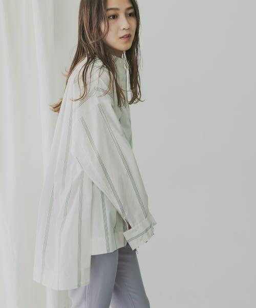 KBF / ケービーエフ シャツ・ブラウス   KBF+ マルチストライプシャツ   詳細9