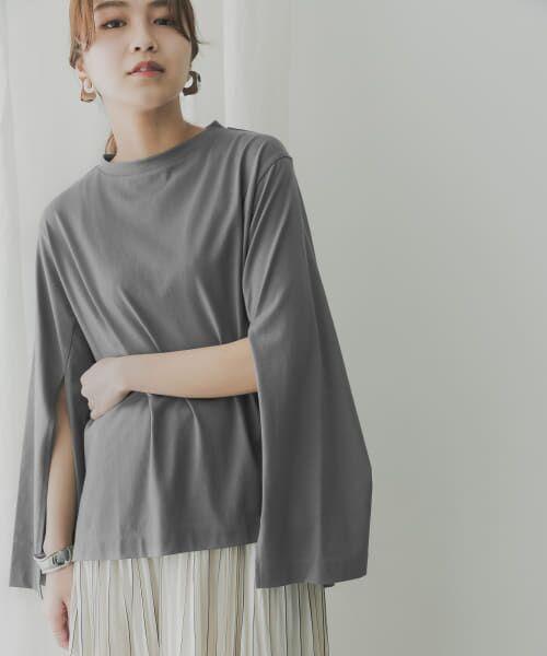 KBF / ケービーエフ Tシャツ | KBF+ 袖スリットプルオーバー(CHARCOAL)