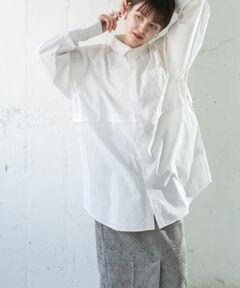 """<strong style=""""font-weight:bold;"""">【エッジを効かせたデザインが目を惹くセパレートシャツ】</strong><br>胸下のセパレートデザインが目を惹くシャツ。一部のボタンを外して個性的なデザインをお楽しみいただいたり、完全に取り外してショート丈のシャツとして取り入れるなどアレンジ自在のアイテムです。<br><br><strong style=""""font-weight:bold;"""">POINT</strong><br>・体型カバーが期待できるワイドシルエット<br>・気分によって形を変えられるデザイン<br>・合わせやすいベーシックなカラー展開<br><br><strong style=""""font-weight:bold;"""">COORDINATE</strong><br>インナーに柄物を着てボタンを外すと中からチラッと見えて可愛いです◎ボトムとのバランスが取りやすいラウンドヘムにも注目です。<br><br>-----------------------------<br>透け感 : ややあり(OFFのみ)<br>伸縮性 : なし<br>裏地 : なし<br>光沢 : なし<br>ポケット : あり<br>-----------------------------<br><br>※商品画像は、光の当たり具合やパソコンなどの閲覧環境により、実際の色味と異なって見える場合がございます。予めご了承ください。<br>※商品の色味の目安は、商品単体の画像をご参照ください。"""