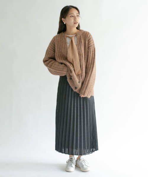 KBF / ケービーエフ スカート   シアーラッププリーツスカート   詳細10