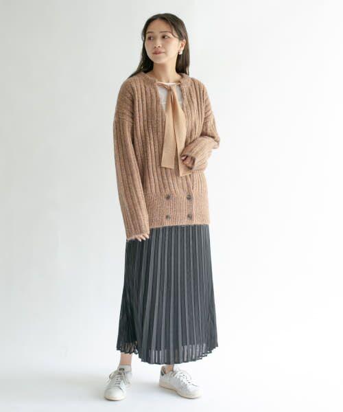 KBF / ケービーエフ スカート   シアーラッププリーツスカート   詳細11