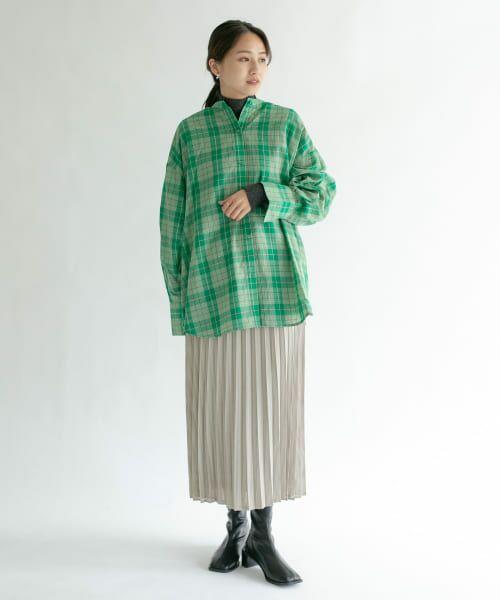 KBF / ケービーエフ スカート   シアーラッププリーツスカート   詳細17