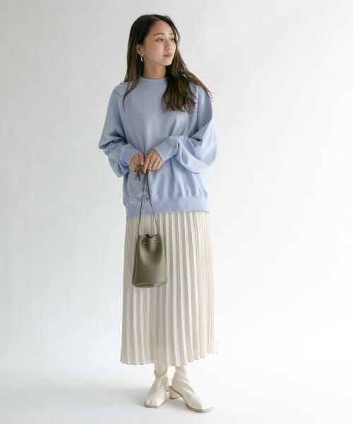 KBF / ケービーエフ スカート   シアーラッププリーツスカート   詳細3