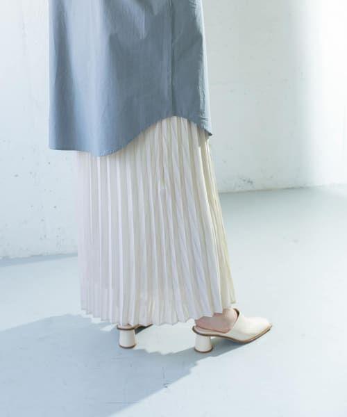 KBF / ケービーエフ スカート   シアーラッププリーツスカート   詳細6