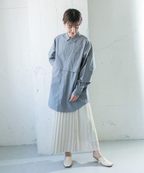 KBF / ケービーエフ スカート   シアーラッププリーツスカート   詳細8