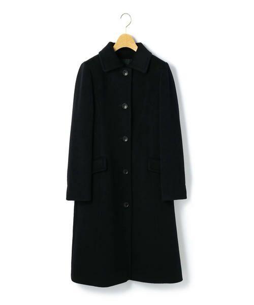 KEITH Lサイズ / キースエルサイズ トレンチコート | アンゴラビーバー コート(ブラック)