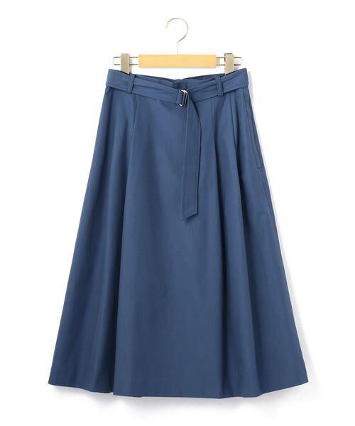KEITH Lサイズ / キースエルサイズ ミニ・ひざ丈スカート | コットンシャンブレー スカート(ブルー)