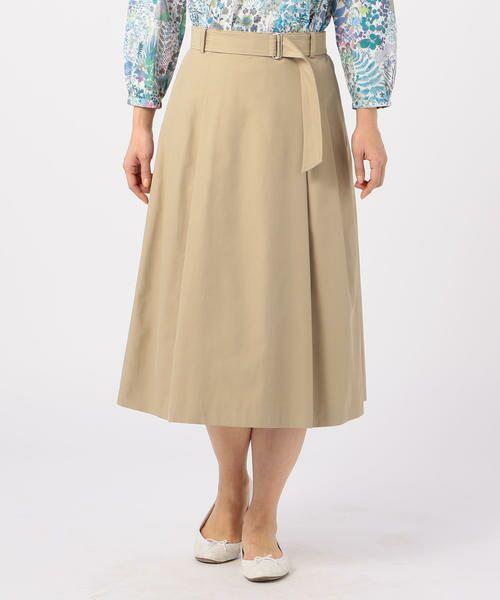 KEITH Lサイズ / キースエルサイズ ミニ・ひざ丈スカート | コットンシャンブレー スカート | 詳細6