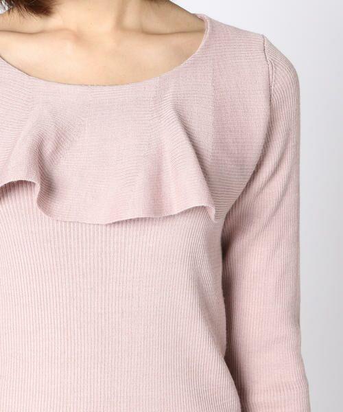 ketty / ケティ ニット・セーター | 胸元ラッフルデザイン長袖ニットプルオーバー | 詳細6
