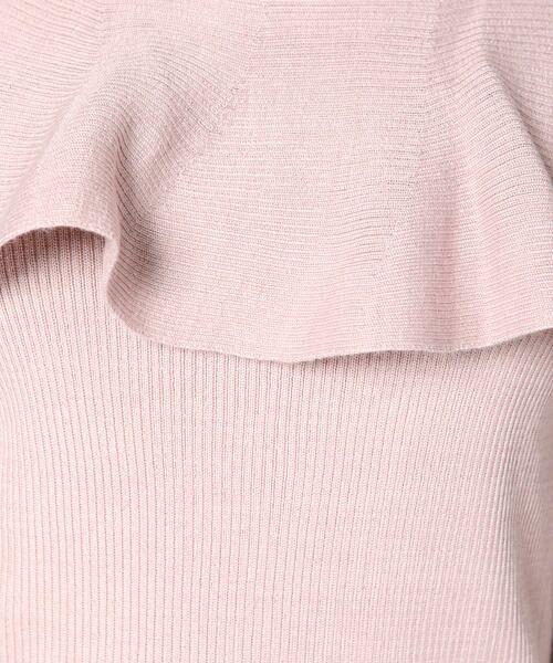 ketty / ケティ ニット・セーター | 胸元ラッフルデザイン長袖ニットプルオーバー | 詳細7