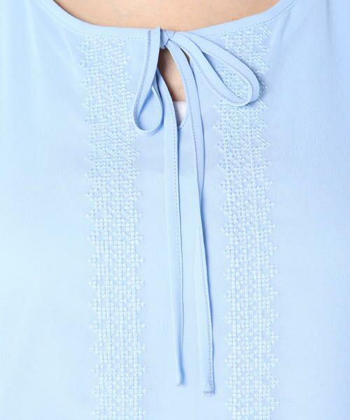 ketty / ケティ カットソー   【洗濯可能】刺繍リボン使いリヨセル綿スムース   詳細7