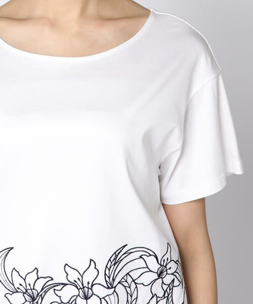 ketty / ケティ カットソー | 【洗濯可能】リヨセル綿スムース裾フラワーレースカットソー | 詳細4