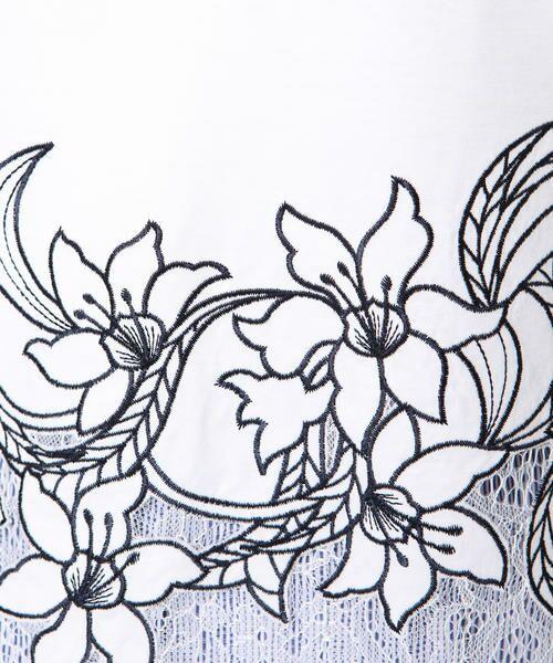 ketty / ケティ カットソー | 【洗濯可能】リヨセル綿スムース裾フラワーレースカットソー | 詳細6