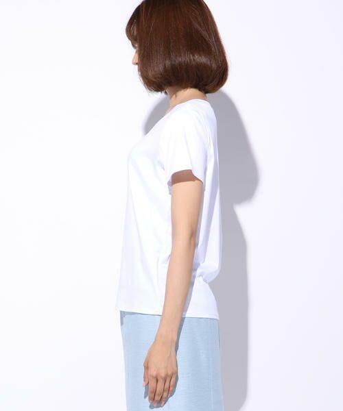 ketty / ケティ カットソー | 【洗濯可能】Funcs Coolリヨセル綿スムースロゴTシャツ<EMOUVANTE> | 詳細1