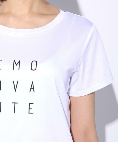 ketty / ケティ カットソー | 【洗濯可能】Funcs Coolリヨセル綿スムースロゴTシャツ<EMOUVANTE> | 詳細3