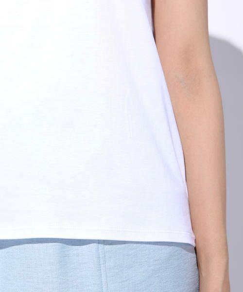 ketty / ケティ カットソー | 【洗濯可能】Funcs Coolリヨセル綿スムースロゴTシャツ<EMOUVANTE> | 詳細4