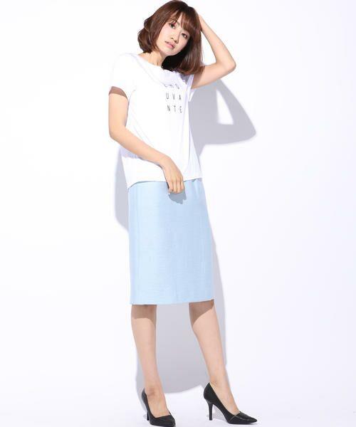 ketty / ケティ カットソー | 【洗濯可能】Funcs Coolリヨセル綿スムースロゴTシャツ<EMOUVANTE> | 詳細7