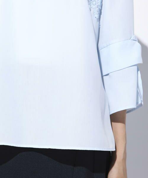 ketty / ケティ シャツ・ブラウス | 【洗濯可能】スパンナナローンフラワーモチーフブラウス | 詳細6