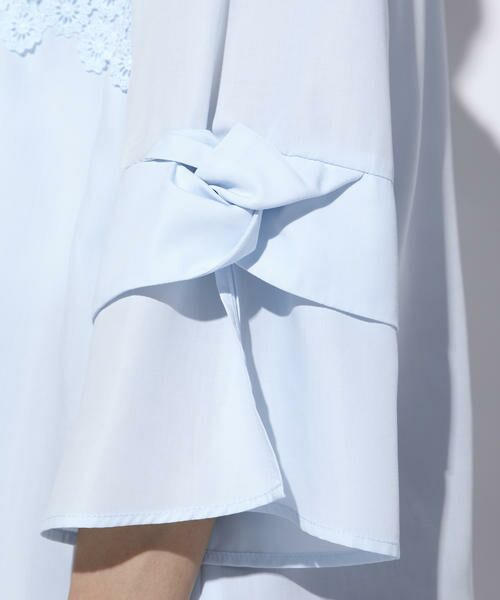 ketty / ケティ シャツ・ブラウス | 【洗濯可能】スパンナナローンフラワーモチーフブラウス | 詳細8
