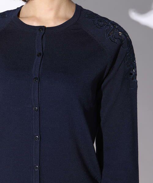 ketty / ケティ ニット・セーター | カットワーク刺繍丸首カーディガン | 詳細5