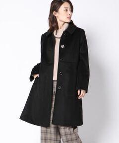 アンゴラ混のしなやかな生地のコートは、シンプルだからこそ美しいシルエットにこだわった一枚。<br>ふくらみのあるカルゼ生地は軽くて暖かい上、着心地も抜群です!<br>取り外し可能な襟できちんと感のあるステンカラースタイルと、フェミニンなノーカラースタイルのどちらでもお使いいただけます。<br>なだらかなAラインが女性らしく、ワンピースやスカートスタイルにぴったり◎<br>美しいシルエットが大人フェミニンな、ケティのおすすめのコートアイテムです。<br><br><br>【MIREI KIRITANI×BARFOUT×kettyコーデ2】<br>