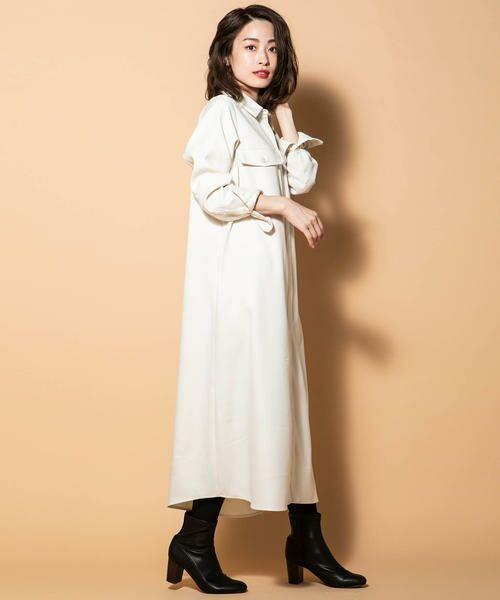 Ketty Cherie / ケティ シェリー ワンピース   ウール調シャツワンピース   詳細1