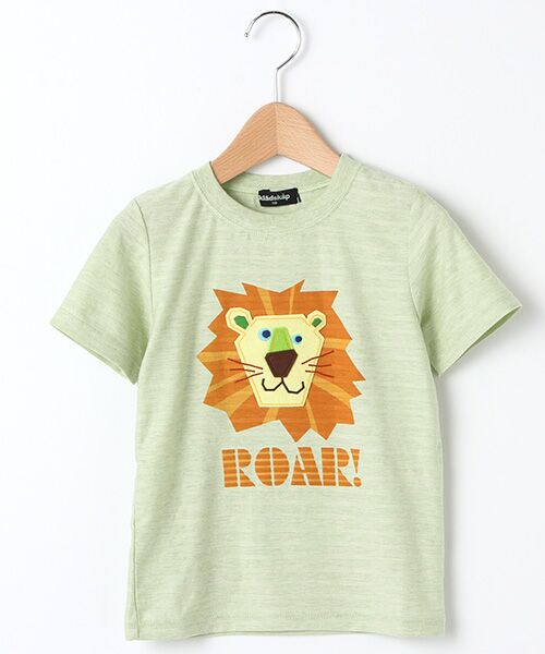 目が特徴的なライオンのTシャツ