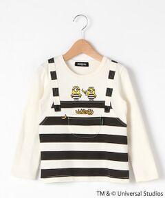 【ミニオン】重ね着風長袖Tシャツ