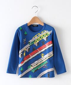 トレイン&アニマル柄Tシャツ