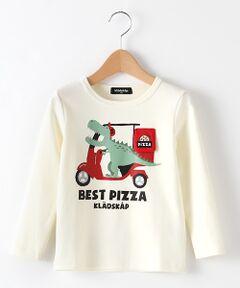 ピザデリバリー恐竜Tシャツ