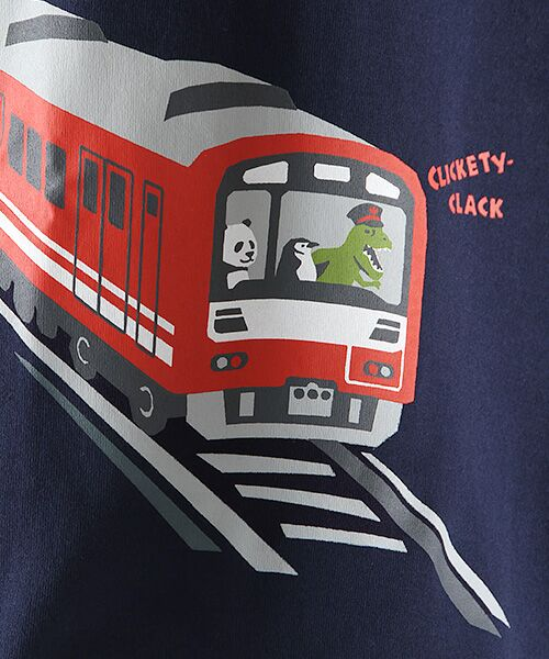 kladskap / クレードスコープ カットソー   電車プリントTシャツ   詳細6
