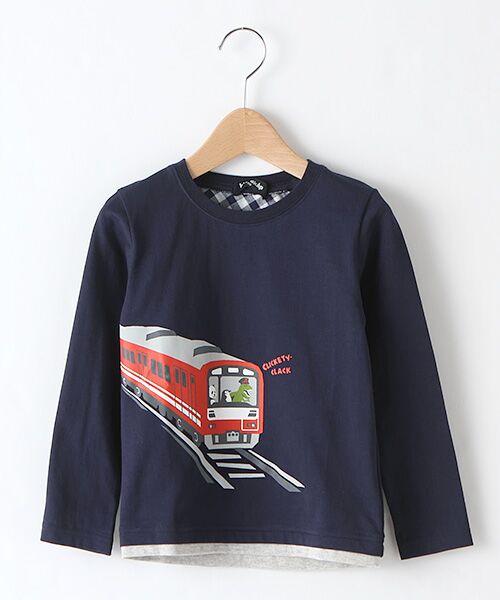 kladskap / クレードスコープ カットソー   電車プリントTシャツ(コン)
