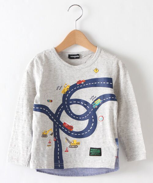 kladskap / クレードスコープ カットソー | ワーキングカープリントTシャツ(SI・グレ-)