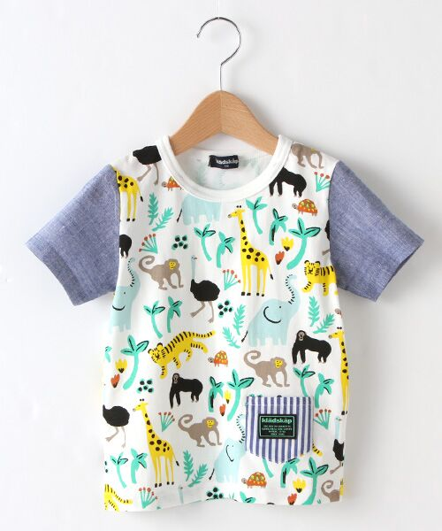 kladskap / クレードスコープ Tシャツ   アニマル総柄Tシャツ(オフホワイト)