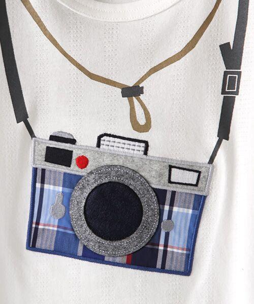 kladskap / クレードスコープ Tシャツ | カメラアップリケ半袖Tシャツ | 詳細1