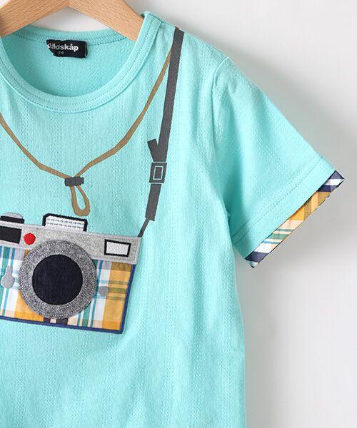 kladskap / クレードスコープ Tシャツ | カメラアップリケ半袖Tシャツ | 詳細3