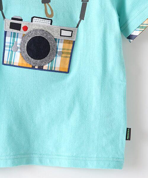 kladskap / クレードスコープ Tシャツ | カメラアップリケ半袖Tシャツ | 詳細4