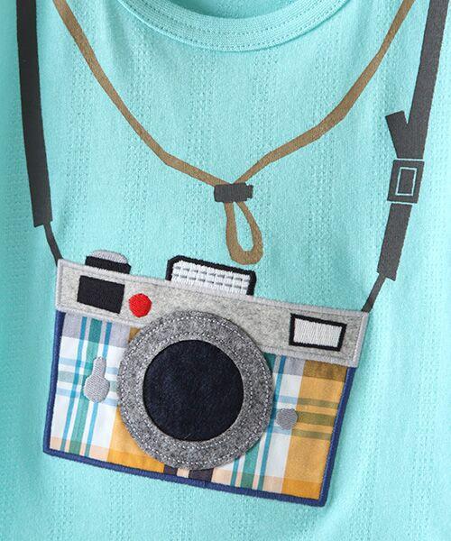 kladskap / クレードスコープ Tシャツ | カメラアップリケ半袖Tシャツ | 詳細5