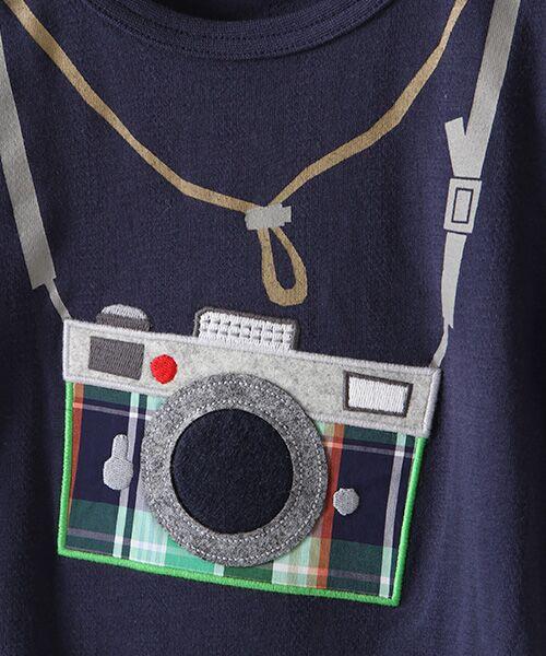 kladskap / クレードスコープ Tシャツ | カメラアップリケ半袖Tシャツ | 詳細6